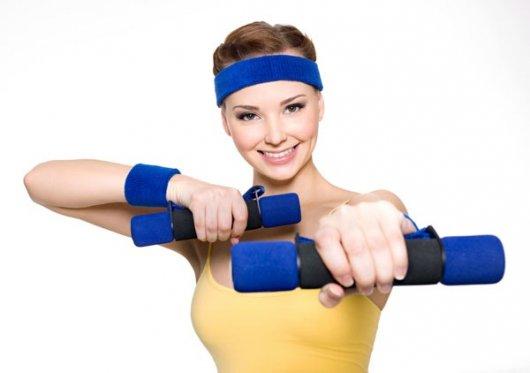 Упражнения для похудения рук от локтя до плеча