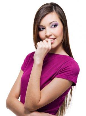 Фиолетовый макияж для губ