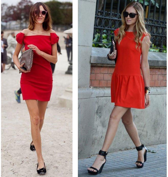 Красное платье с чем сочетается