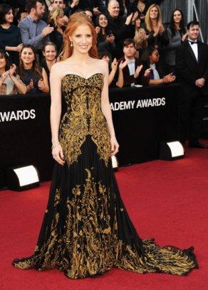 Платье с золотыми узорами