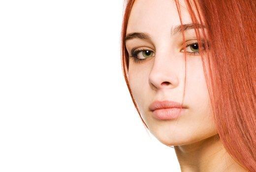 Рыжая хна на темные волосы