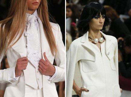 a9d0c1bd5f9 Белый галстук к белому платью - Ralph Lauren и белый жемчуг от Chanel 17145