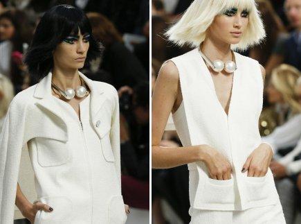 e03a7934eba Черный маникюр под белое платье предлагает Chanel