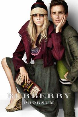 Кара Делевинь и Эдди Редмайн в рекламной компании Burberry e2fe17d22d4