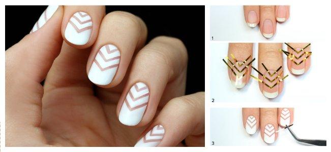 Как сделать ровную линию на ногтях 606